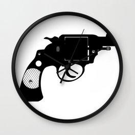 Detectives Revolver Wall Clock