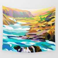 river Wall Tapestries featuring River by Liam Brazier