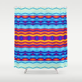 Blue OJ Chill Trip Vibe Shower Curtain