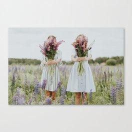 Lavander girls Canvas Print