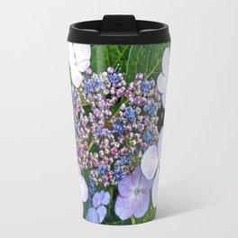 Lacecap Hydrangea Travel Mug