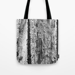 Carvings in Tree Trunk Gnarly Texture Pattern Tote Bag