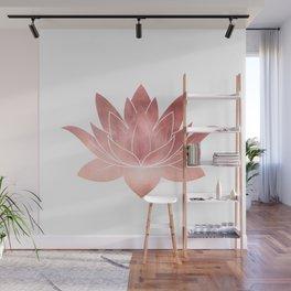 Pink Lotus Flower | Watercolor Texture Wall Mural