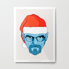 Walter White Christmas Metal Print
