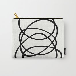 Come Together - Black and white, minimalistic, abstract, art print Carry-All Pouch
