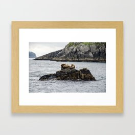Relaxation with Friends Framed Art Print
