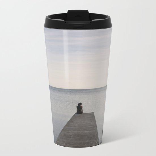 Mermaid In Terra Incognita Metal Travel Mug