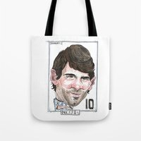 messi Tote Bags featuring MESSI by BANDY