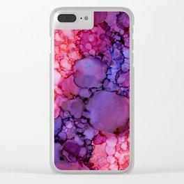 Grape Pop Clear iPhone Case