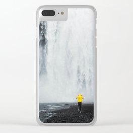 Skogafoss Waterfall, South Iceland Clear iPhone Case