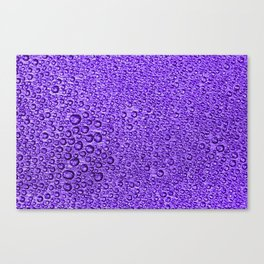 Water Condensation 05 Violet Canvas Print