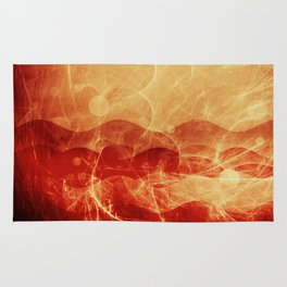 Energy Waves - Fire Version Rug
