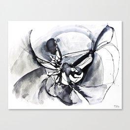 Waterink Black Canvas Print