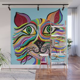 Grinning Cat Wall Mural