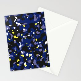 Starry night camouflaged pattern (Blue and yellow) Stationery Cards