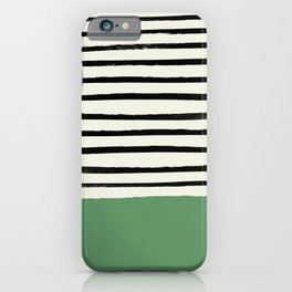 Moss Green x Stripes iPhone Case