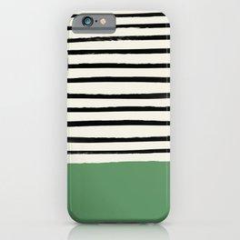 Moss Green x Stripes iPhone Case