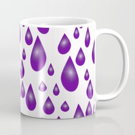 Purple Raindrops Coffee Mug