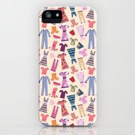 Dress Papercut Pattern - baby Yellow iPhone Case