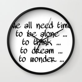 We all need time Wall Clock