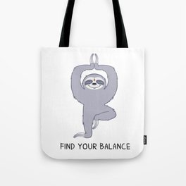 Happy Yogi Sloth - Find your balance Tote Bag