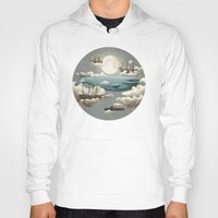 art deco Hoodies featuring Ocean Meets Sky by Terry Fan