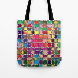 Stained Glass Window Multicolour Pattern Tote Bag
