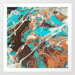 Natural Stones Series Turquoise Art Print