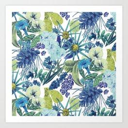 FLOWERPOWER (BLUE) Art Print