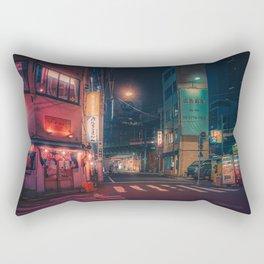 Serene - Tokyo Japan Night Photography Rectangular Pillow