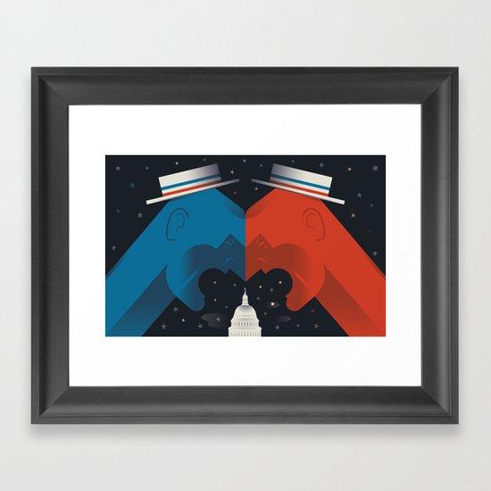 Debate Framed Art Print