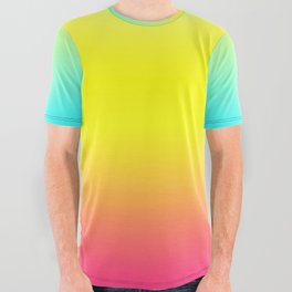 Ombre Magical Rainbow Unicorn Colors All Over Graphic Tee