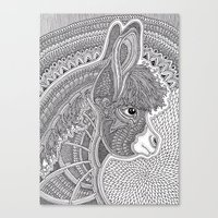 donkey Canvas Prints featuring Donkey by Olya Goloveshkina