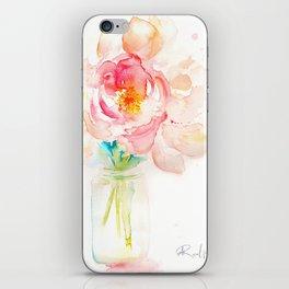 Blooming Peonies iPhone Skin