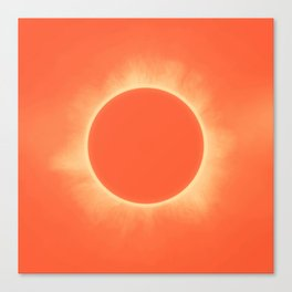 Solar Eclipse in Sunset Color Canvas Print