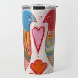 Folk Love Birds Travel Mug