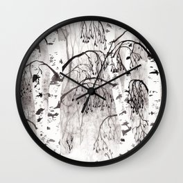 Winter Birch Wall Clock