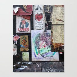 """Graffiti Street shot Canvas Print"