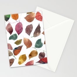 Leaves. Watercolor leaves pattern. Autumn leaves. Stationery Cards