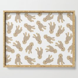 'Ruff Life' Dog Goldendoodle Serving Tray