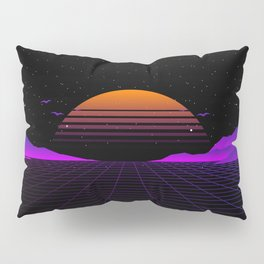 Vaporwave Outrun | Eighties Style Pillow Sham