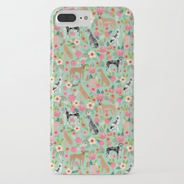 Great Dane floral dog breed pet friendly pet pattern great danes pure breed iPhone Case