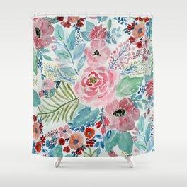Pretty watercolor hand paint floral artwork. Shower Curtain