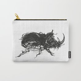 Beetle 1. Black on white background Carry-All Pouch