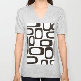 Mid Century Modern Shapes Black And White #society6 #buyart Unisex V-Neck