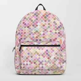Happy Pastel Square Pattern Backpack