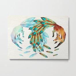 two foxes Metal Print