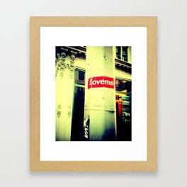 LOVE.ME. Framed Art Print
