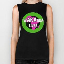 Wakanda Lives Biker Tank