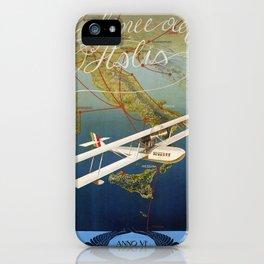 Vintage 1920s Island plane shuttle Italian travel iPhone Case